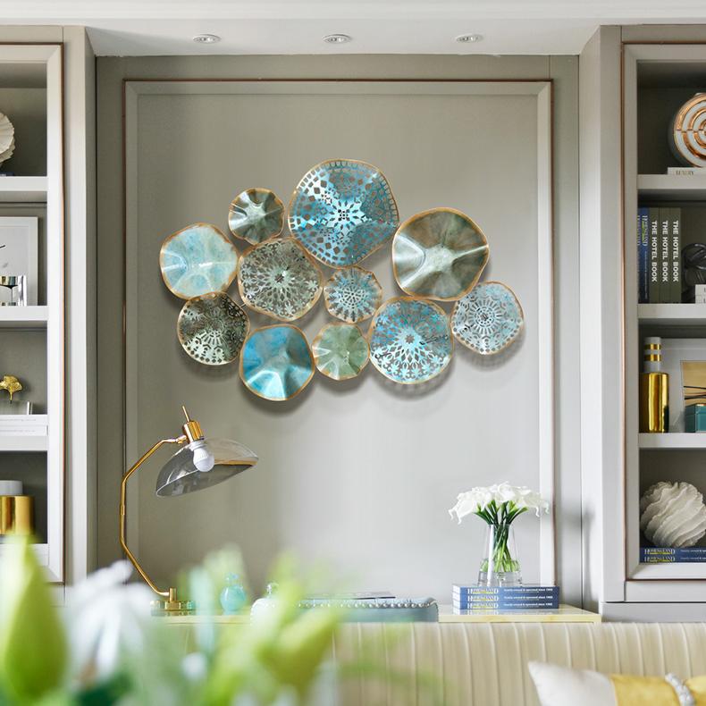 Bộ decor trang trí 3D cảm hứng lá sen cách điêu tuyệt đẹp cho không gian thêm sống động đầy ấn tượng SM3411_BU