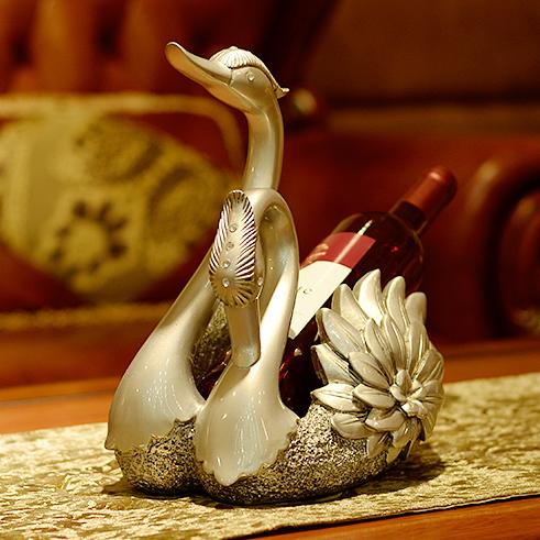 Giá đỡ rượu vang đôi thiên nga thiết kế tân cổ điển đầy ấn tượng A1904-5