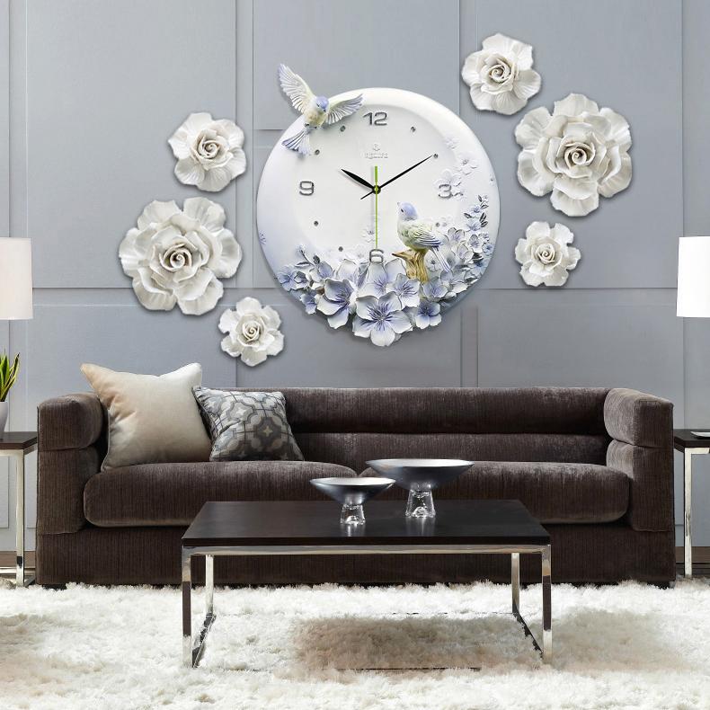 Đồng hồ thiết kế hình hoa nghệ thuật cho không gian thêm ấn tượng ZB0006A_HA2