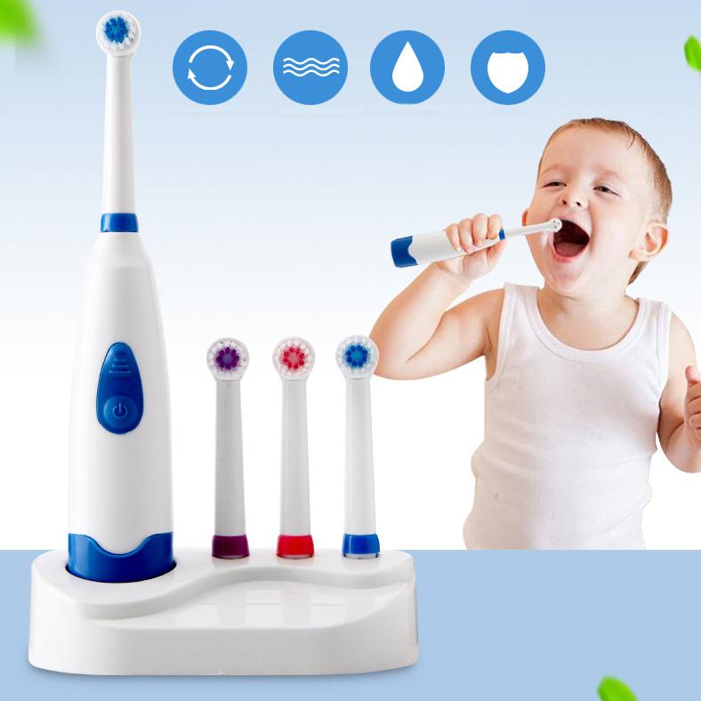 Bàn chải điện đánh răng trẻ em giúp làm sạch và chăm sóc răng bé toàn diện ABS008