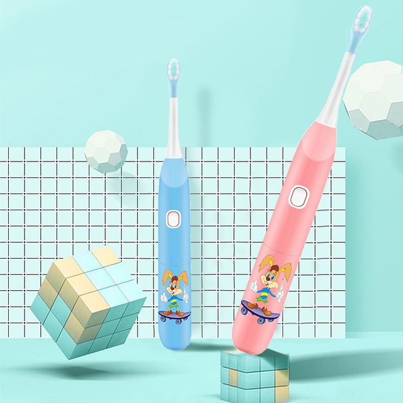 Bàn chải điện đánh răng trẻ em giúp làm sạch và chăm sóc răng bé toàn diện ABS6