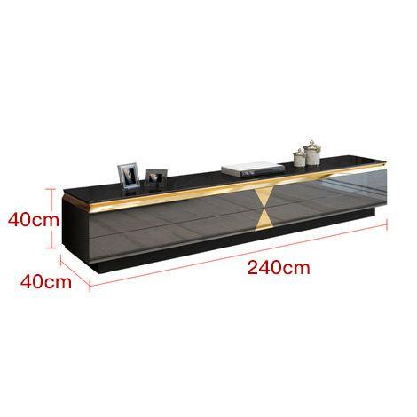Bàn phòng khách kết hợp tủ tivi siêu sang trọng thật ấn tượng tách set tủ tivi 382 size 240cm