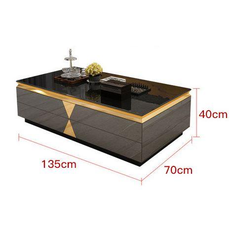 Bàn phòng khách kết hợp tủ tivi siêu sang trọng thật ấn tượng tách set bàn 382 size 135cm