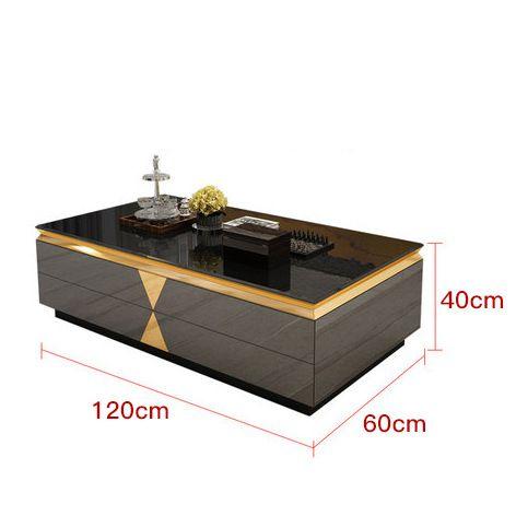 Bàn phòng khách kết hợp tủ tivi siêu sang trọng thật ấn tượng tách set bàn 382 size 120cm