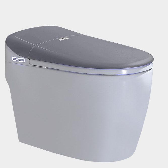 Bồn cầu vệ sinh thông minh YF2112 khoảng cách hố 30cm màu xám bạc