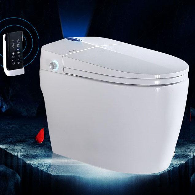 Bồn cầu vệ sinh thông minh điều khiển từ xa và cảm ứng nhiệt tiện lợi YF2113 khoảng cách hố 30cm