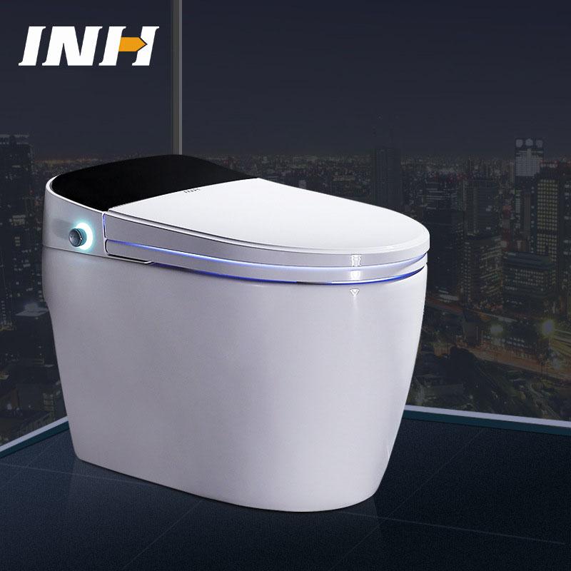 Bồn cầu vệ sinh thông minh lật và xả nước tự động YF2116 khoảng cách hố 30cm màu đen