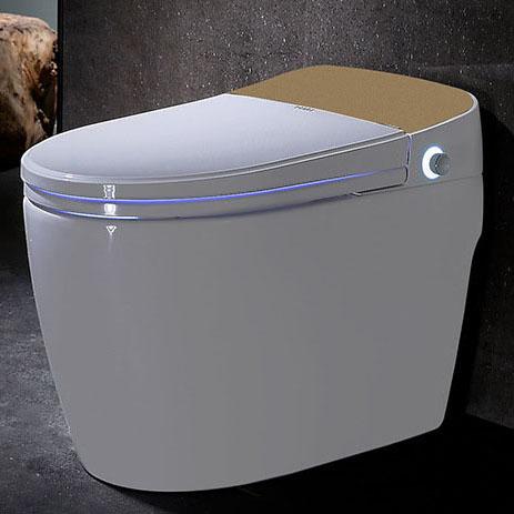 Bồn cầu vệ sinh thông minh lật và xả nước tự động YF2116 khoảng cách 40cm màu vàng champagnen