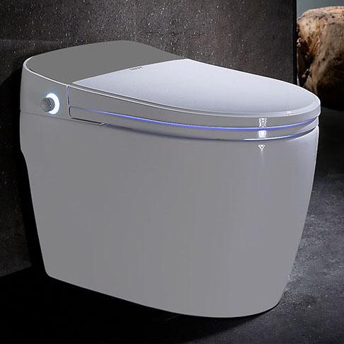 Bồn cầu vệ sinh thông minh lật và xả nước tự động YF2116 khoảng cách 40cm màu bạc