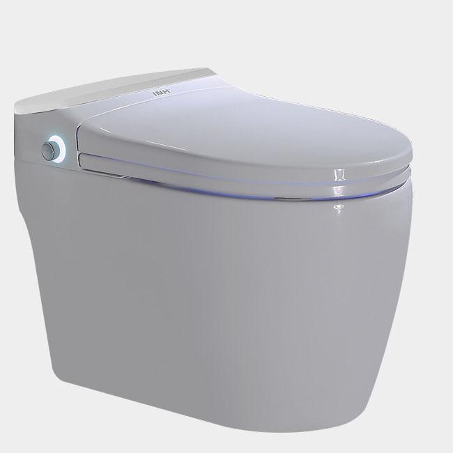 Bồn cầu vệ sinh thông minh nút xoáy cảm ứng YF2114A khoảng cách hố 30cm màu trắng