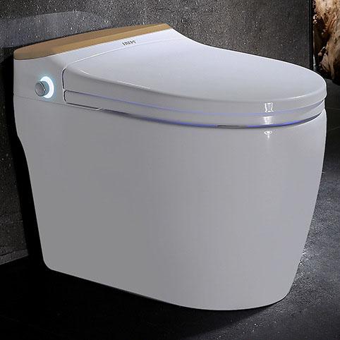 Bồn cầu vệ sinh thông minh nút xoáy cảm ứng YF2114A khoảng cách hố 40cm màu vàng champagne