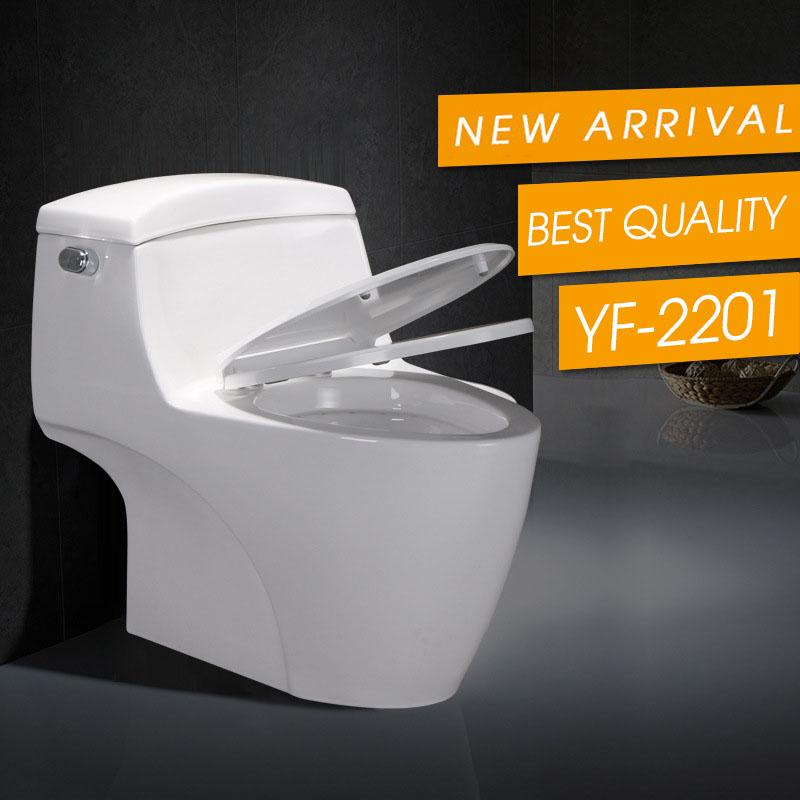 Bồn cầu vệ sinh thông minh tiết kiệm nước thiết kế lạ mắt độc đáo YF2201 khoảng cách hố 30cm ure-phomaldehyd