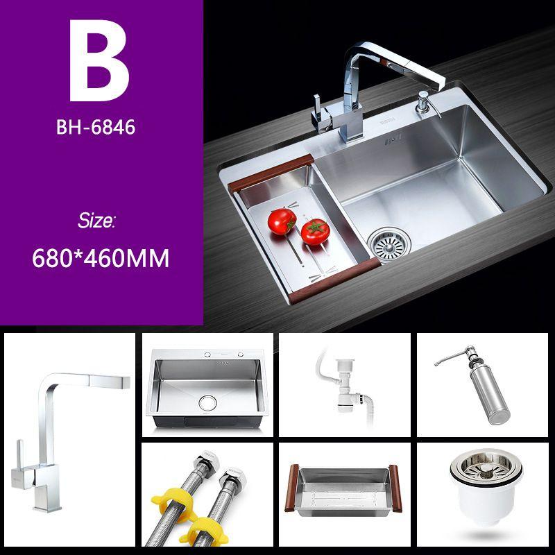 Chậu rửa bát đơn thiết kế hiện đại ấn tượng BH-6846B