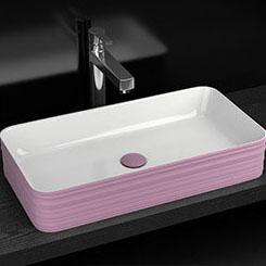 Chậu rửa lavabo thiết kế hiện đại ấn tượng YF6002A màu tím