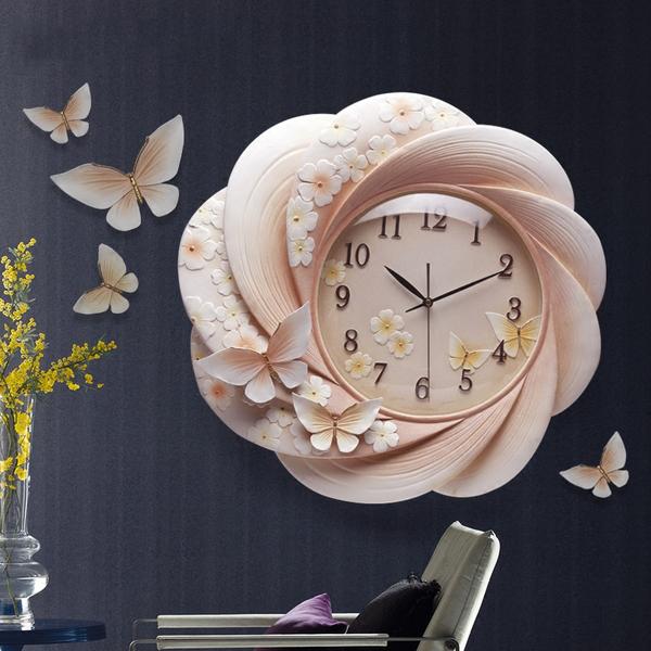 Đồng hồ thiết kế hoa nghệ thuật cho không gian thêm ấn tượng ZB0027B-KE