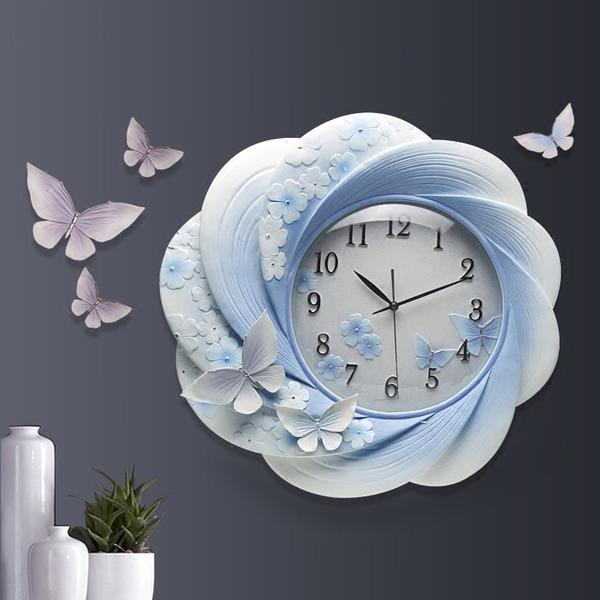 Đồng hồ thiết kế hoa nghệ thuật cho không gian thêm ấn tượng ZB0027B-X