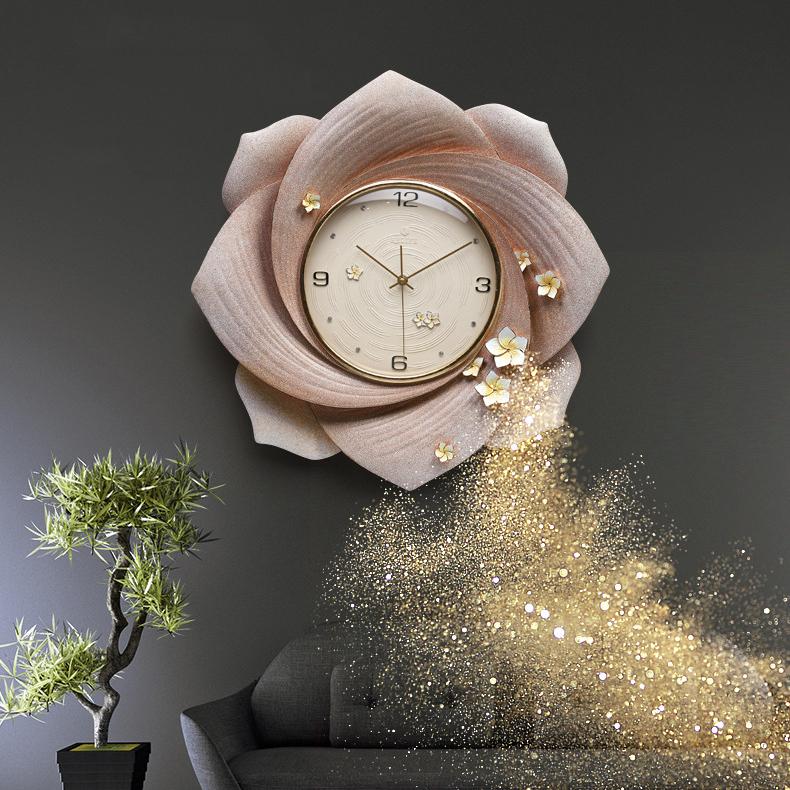 Đồng hồ thiết kế hình hoa nghệ thuật cho không gian thêm ấn tượng ZB0007B