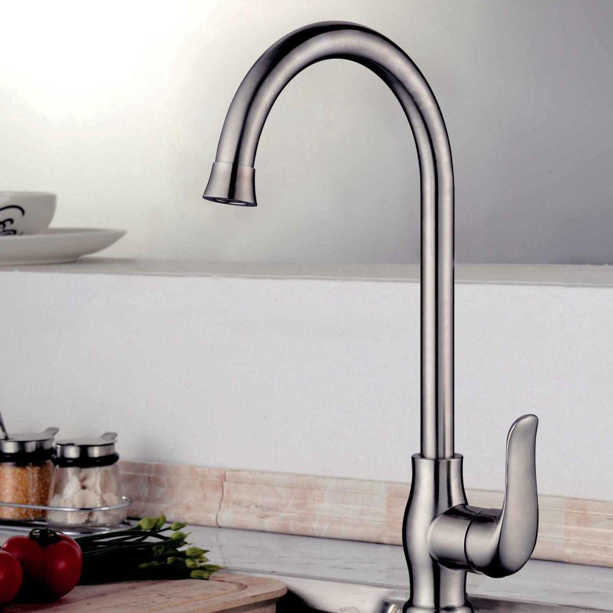 Vòi nước inox304 cao cấp thiết kế hiện đại cho phòng bếp 7315