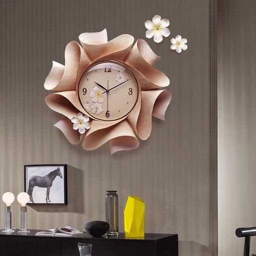 Đồng hồ thiết kế hình hoa nghệ thuật cho không gian thêm ấn tượng ZB0022A-KE