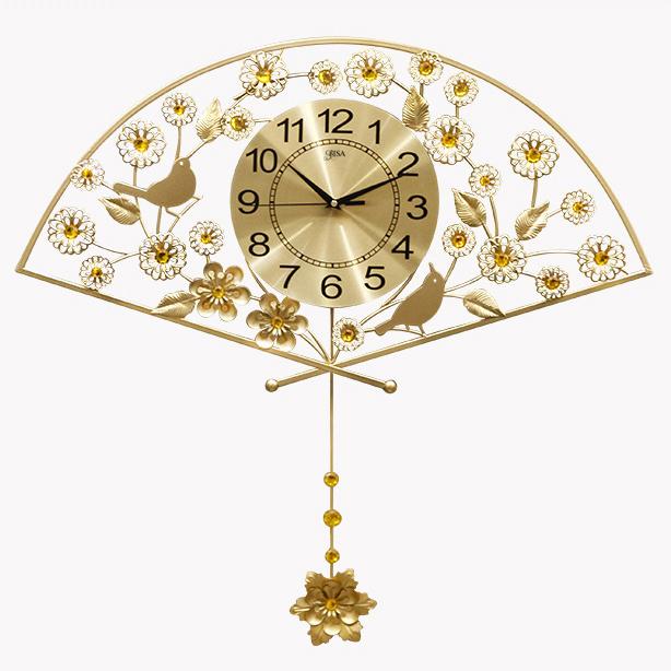 Đồng hồ trang trí hình quạt vô cùng ấn tượng BS1963-75