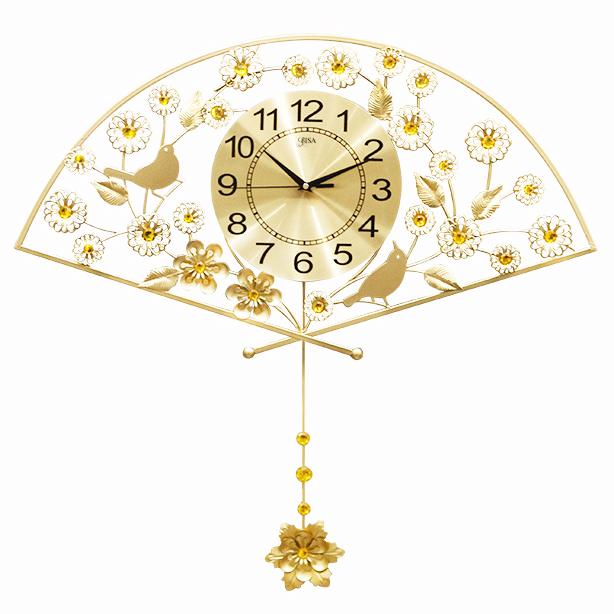 Đồng hồ trang trí hình quạt vô cùng ấn tượng BS1963-105, kích thước lớn 105cm