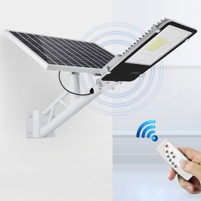 Đèn LED chiếu sáng ngoài trời chống thấm nước sử dụng pin mặt trời tiết kiệm điện HS66120