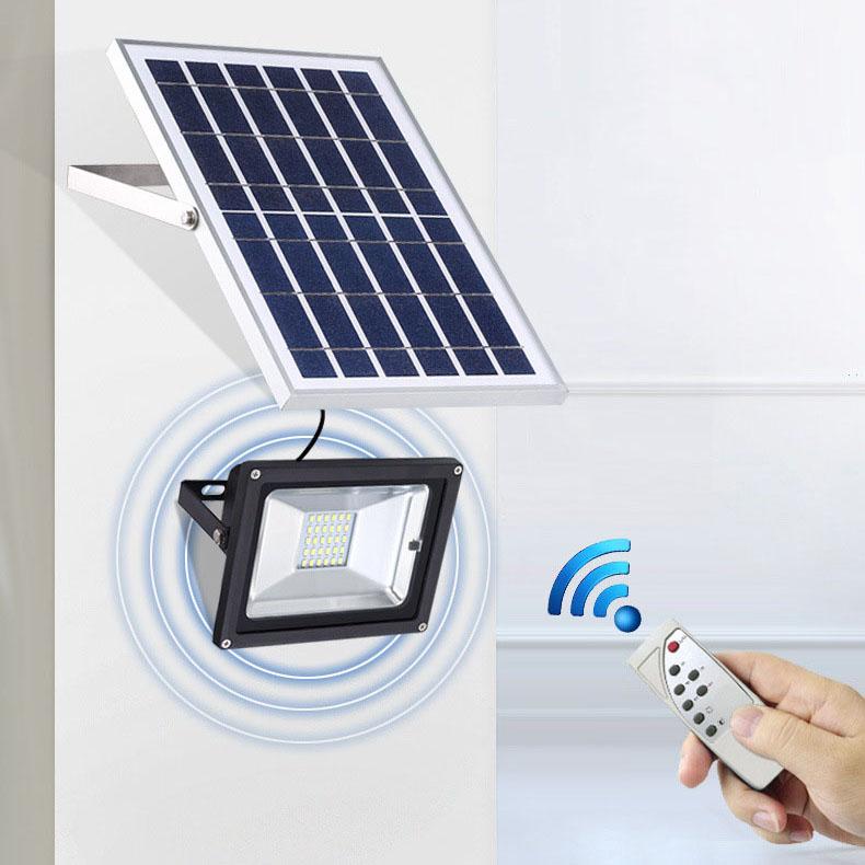 Đèn LED chiếu sáng ngoài trời chống thấm nước sử dụng pin mặt trời tiết kiệm điện HS8830