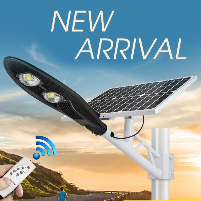 Đèn LED chiếu sáng ngoài trời chống thấm nước sử dụng pin mặt trời tiết kiệm điện HS9960