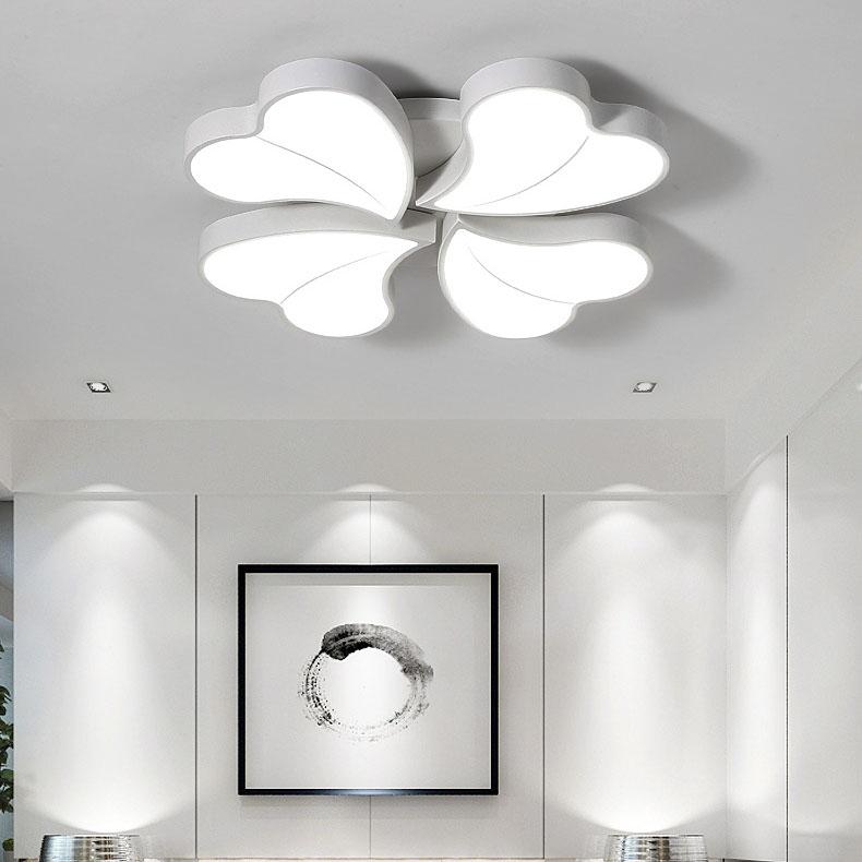 Đèn LED ốp trần phòng khách thiết kế hiện đại sáng tạo đầy ấn tượng 811-52WH