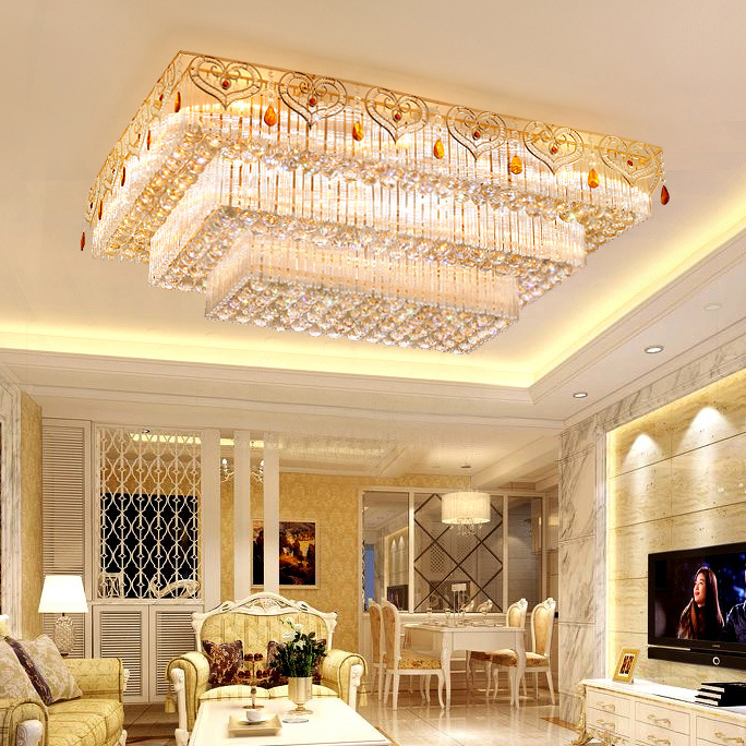 Đèn LED pha lê ốp trần điều khiển từ xa cho phòng khách thêm sang trọng đầy ấn tượng LA8111-1-ĐT size 100