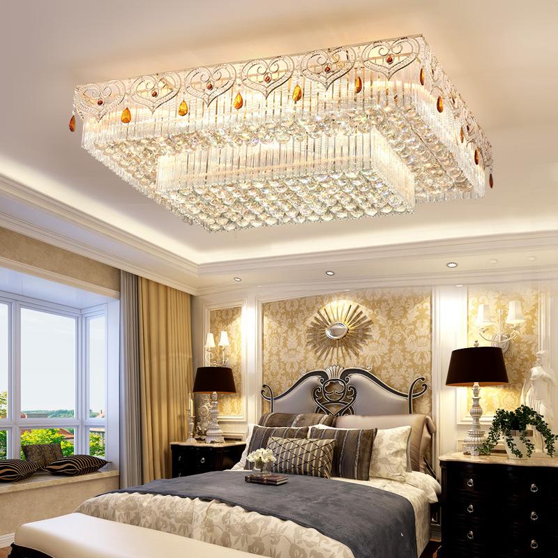 Đèn LED pha lê ốp trần điều khiển từ xa cho phòng khách thêm sang trọng đầy ấn tượng LA8111-1-ĐT size 70