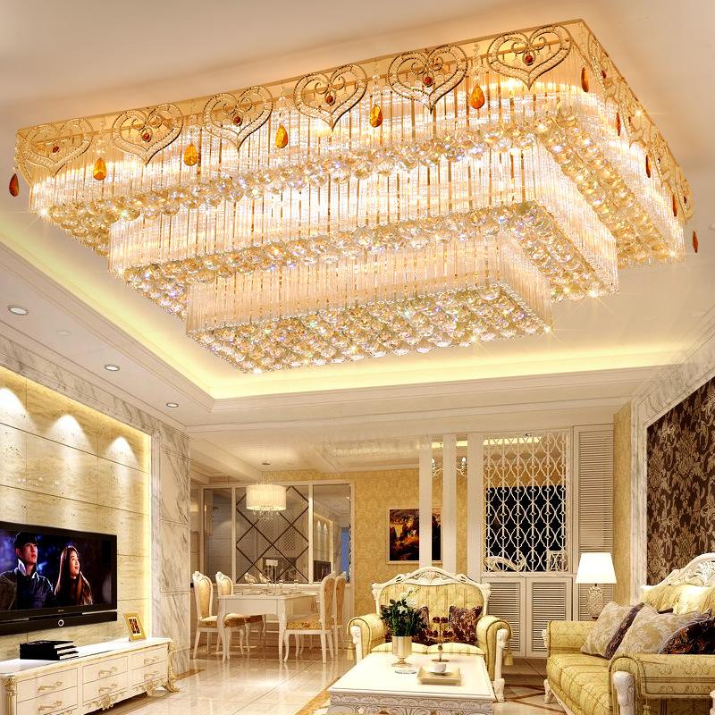 Đèn LED pha lê ốp trần điều khiển từ xa cho phòng khách thêm sang trọng đầy ấn tượng LA8111-1-ĐT size 120