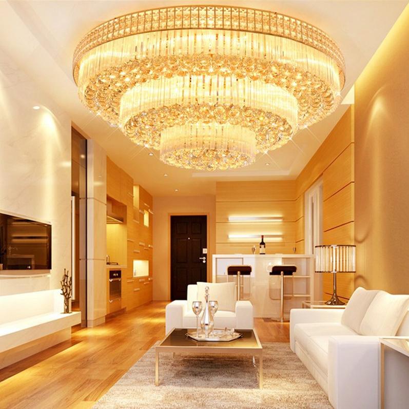 Đèn LED pha lê ốp trần điều khiển từ xa cho phòng khách thêm sang trọng đầy ấn tượng D800 - 3 LỚP