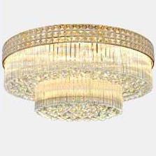 Đèn LED pha lê ốp trần điều khiển từ xa cho phòng khách thêm sang trọng đầy ấn tượng D600 - 2 LỚP