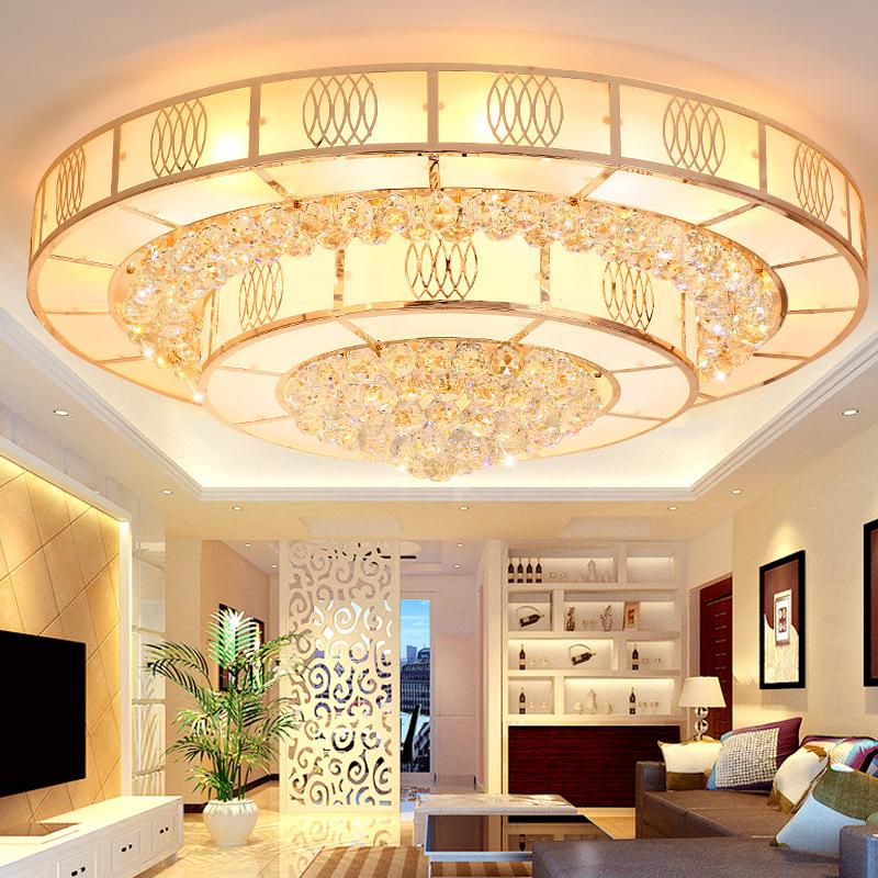 Đèn LED pha lê ốp trần sang trọng đầy ấn tượng LA 8510 - 80 size 80cm