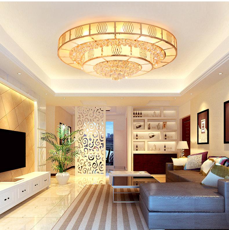 Đèn LED pha lê ốp trần sang trọng đầy ấn tượng LA 8510 - 40 size 40cm