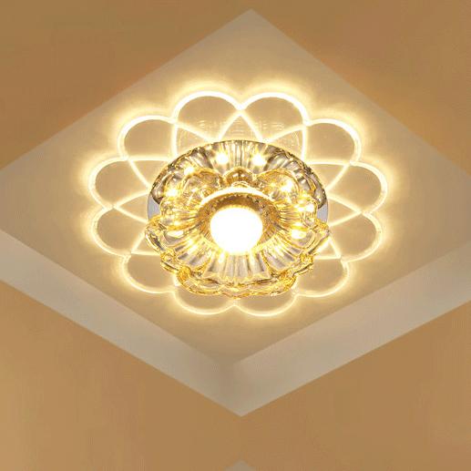 Đèn LED pha lê ốp trần sang trọng đầy ấn tượng LA866-9W