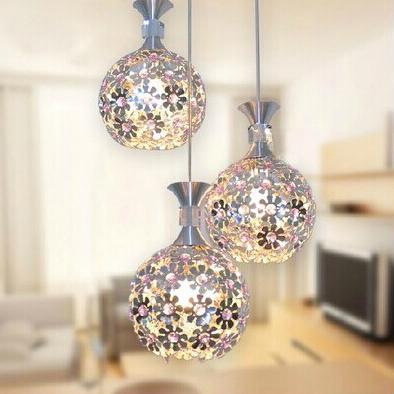 Đèn LED thả trần thiết kế hoa pha lê ấn tượng LA8221