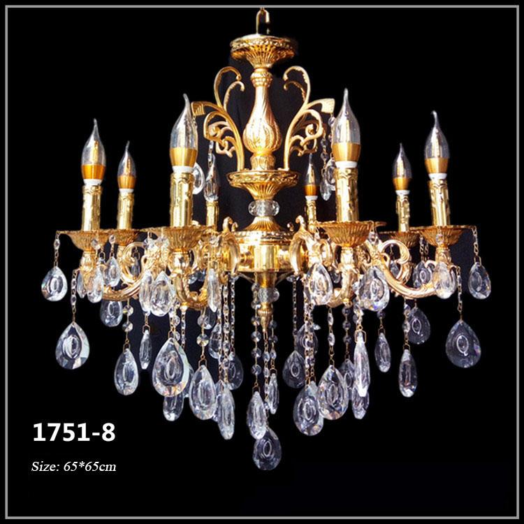Đèn chùm pha lê nến kiểu Ý sang trọng đầy ấn tượng 1751-8