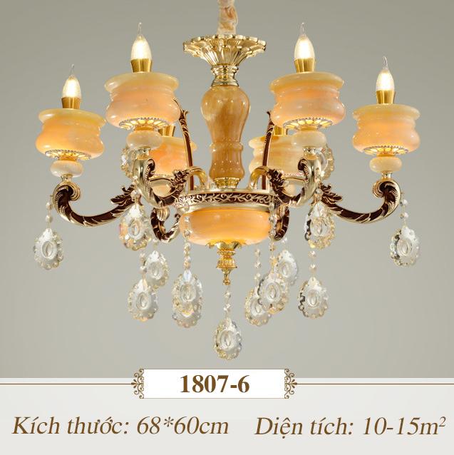 Đèn chùm pha lê nến kiểu Ý sang trọng đầy ấn tượng 1807-6