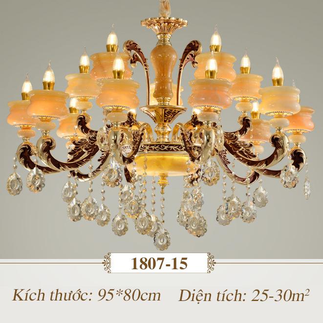 Đèn chùm pha lê nến kiểu Ý sang trọng đầy ấn tượng 1807-15