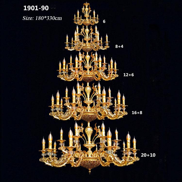 Đèn chùm pha lê nến kiểu Ý sang trọng đầy ấn tượng 1901-90
