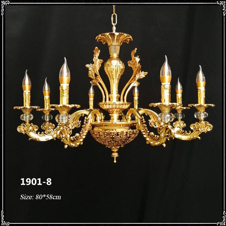 Đèn chùm pha lê nến kiểu Ý sang trọng đầy ấn tượng 1901-8