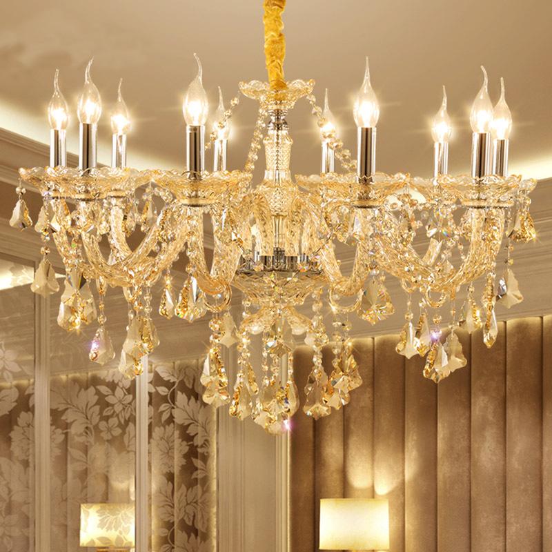 Đèn chùm pha lê nến kiểu Ý sang trọng đầy ấn tượng 60055 mẫu 10 bóng