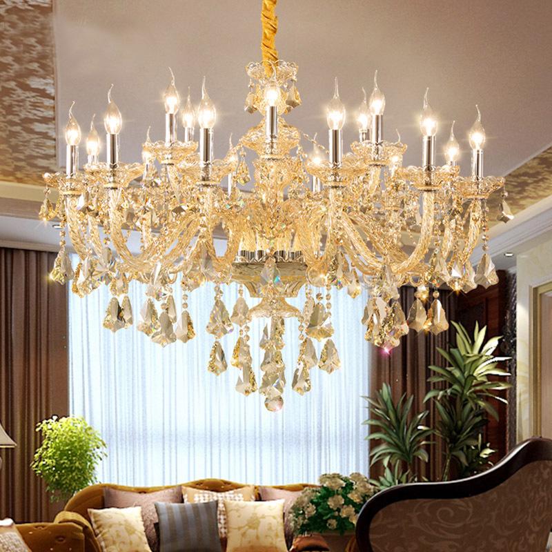 Đèn chùm pha lê nến kiểu Ý sang trọng đầy ấn tượng 60055 mẫu 18 bóng