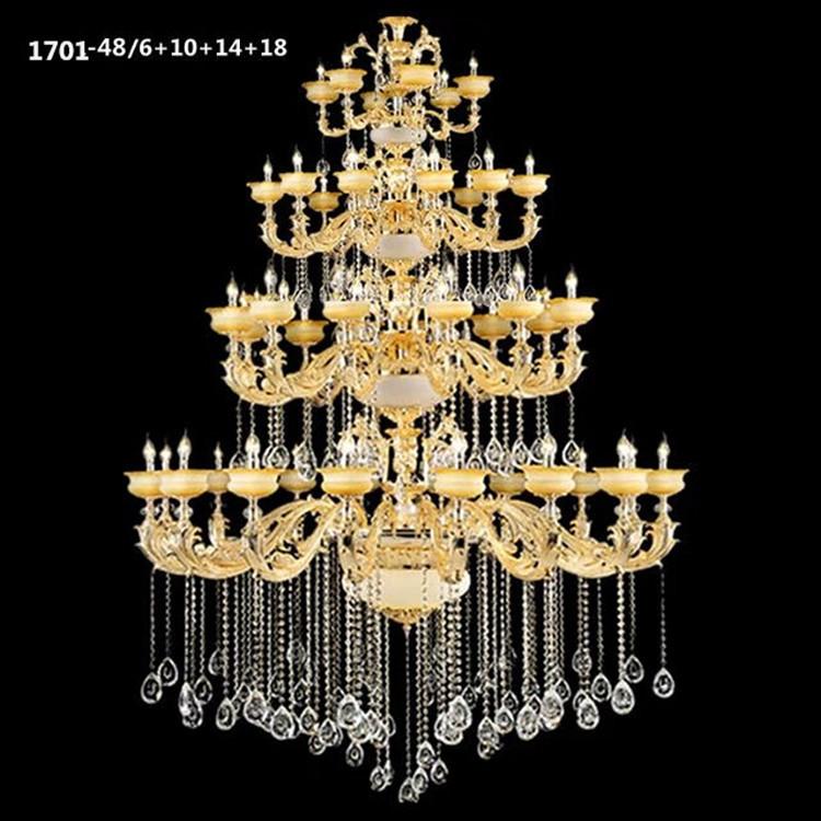 Đèn chùm pha lê nến kiểu Ý sang trọng đầy ấn tượng 1701-48