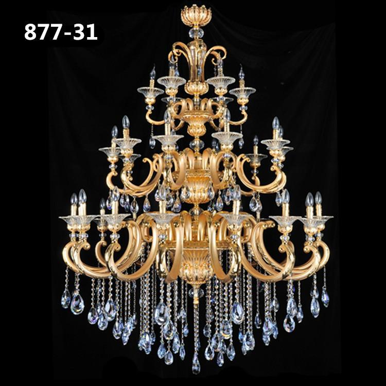 Đèn chùm pha lê nến kiểu Ý sang trọng đầy ấn tượng 877-31