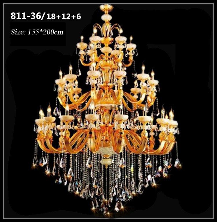 Đèn chùm pha lê nến kiểu Ý sang trọng đầy ấn tượng 811-36