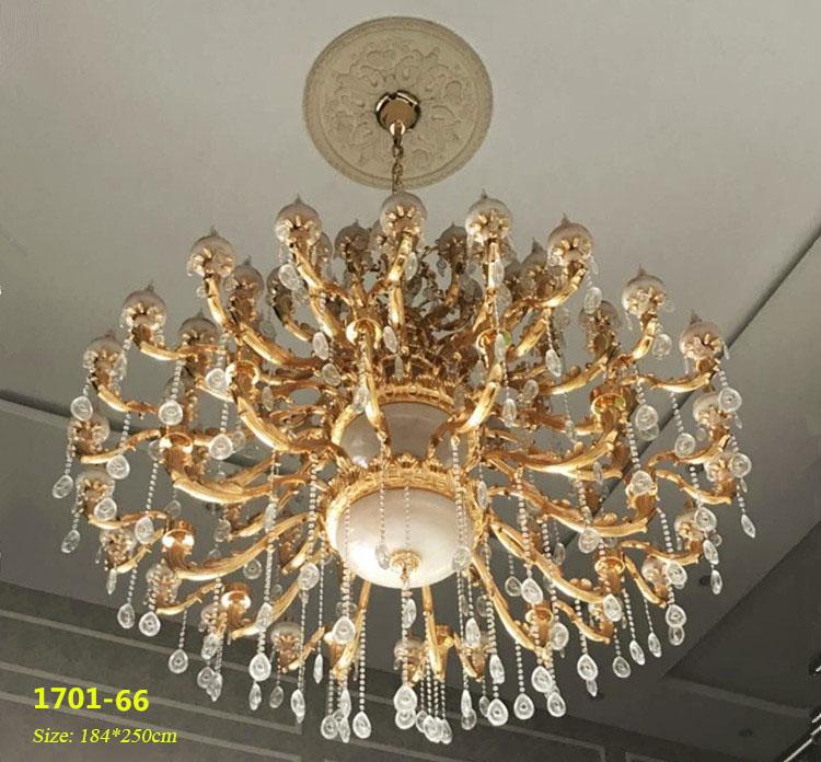 Đèn chùm pha lê nến kiểu Ý sang trọng đầy ấn tượng 1701-66