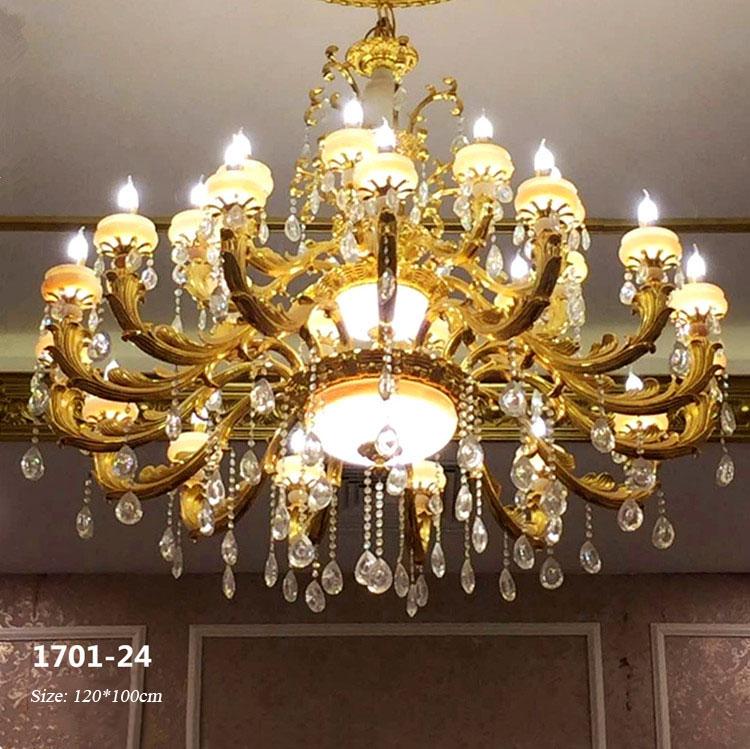 Đèn chùm pha lê nến kiểu Ý sang trọng đầy ấn tượng 1701-24